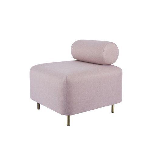 ENOstudio Bovari Lounge Sessel / Stoff - ENOstudio - Rosa,Messing
