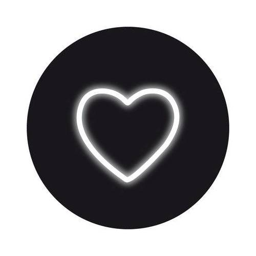 Seletti Neon Art Wandleuchte mit Stromkabel / Herz-Symbol - Seletti - Weiß