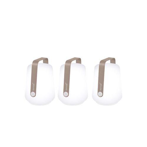 Fermob Balad Lampe ohne Kabel / H 13,5 cm - 3er-Set - Fermob - Muskat