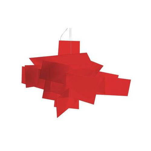 Foscarini Big Bang Pendelleuchte LED / Ø 96 cm - Foscarini - Weiß,Rot