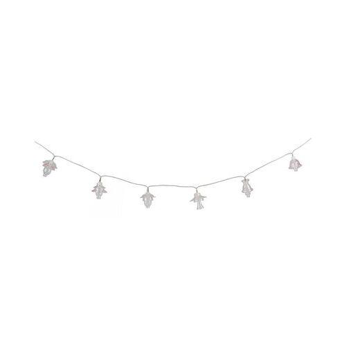 Seletti Floralia Lichterkette / LED - 12 Lampenschirme aus Glas - L 420 cm - Seletti - Blassrosa