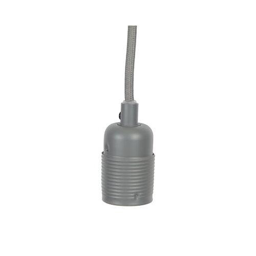 Frama Kit Pendelleuchte / Set aus Kabel mit grauer Textilummantelung + E27-Fassung - Frama - Grau