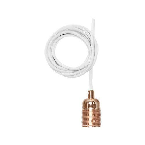 Frama Kit Pendelleuchte / Set aus Kabel mit weißer Textilummantelung + E27-Fassung - Frama - Kupfer