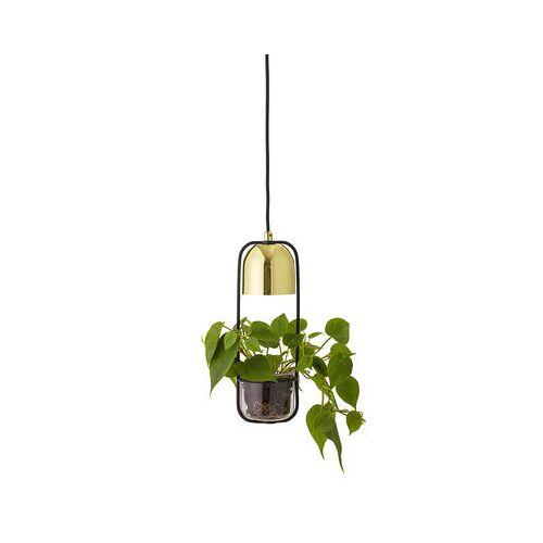 Bloomingville Pendelleuchte / mit Blumentopf - Ø 10 cm x H 34 cm - Bloomingville - Schwarz,Gold