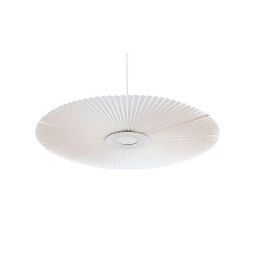 Hartô Carmen Large Pendelleuchte / LED - Ø 128 cm - Stoff mit Plissée-Effekt - Hartô - Weiß