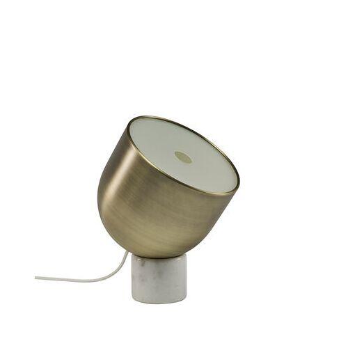 Bolia Faro Tischleuchte / Messing & Marmor - Ø 22 cm - Bolia - Weiß,Messing