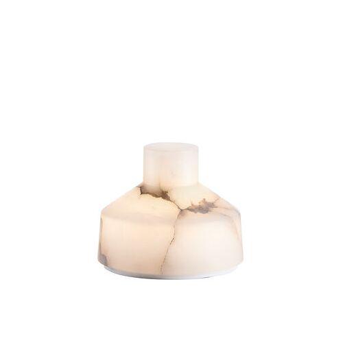 Carpyen Alabast Small - LED Lampe ohne Kabel / H 11 cm - Alabaster - Carpyen - Weiß
