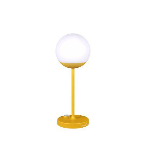 Fermob Mooon! LED Lampe ohne Kabel / H 41 cm - mit USB-Ladekabel - Fermob - Honig
