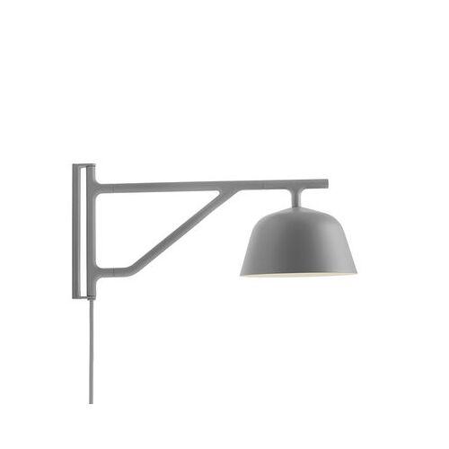 Muuto Ambit Wandleuchte mit Stromkabel / Schwenkarm - L 41 cm - Muuto - Grau