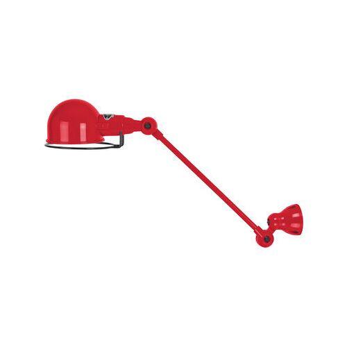 Jieldé Signal Wandleuchte / mit Gelenkarm - L 30 cm - Jieldé - Rot glänzend