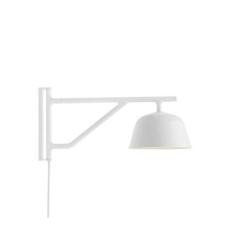 Muuto Ambit Wandleuchte mit Stromkabel / Schwenkarm - L 41 cm - Muuto - Weiß