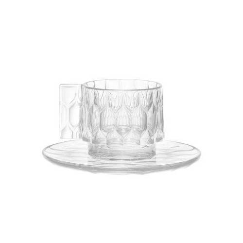 Kartell Jellies Family Kaffeetasse / Set aus Tasse und Untertasse - Kartell - Kristall