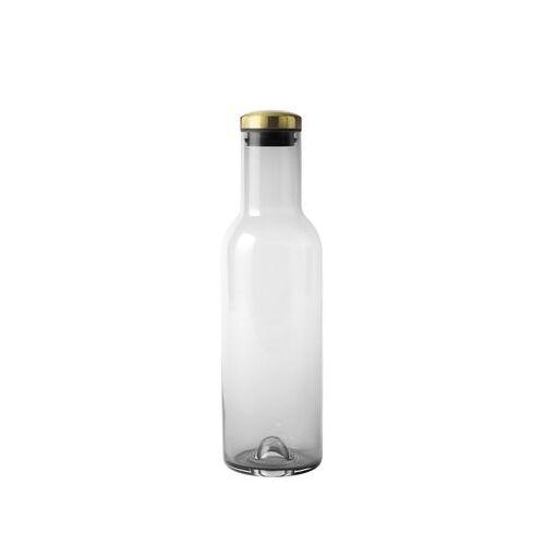 Menu Bottle Karaffe / 1 l - mit Messingverschluss - Menu - Messing,Rauchgrau