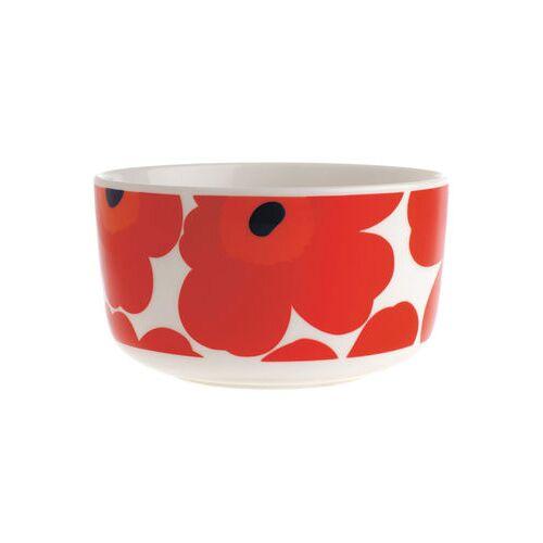 Marimekko Unikko Schale Ø 12,5 cm - Marimekko - Weiß,Rot