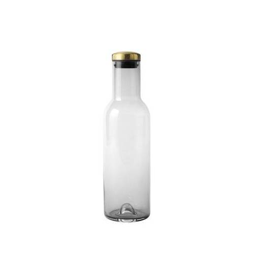 Menu Bottle Karaffe / 1 l - mit Messingverschluss - Menu - Messing,Rauchgrau