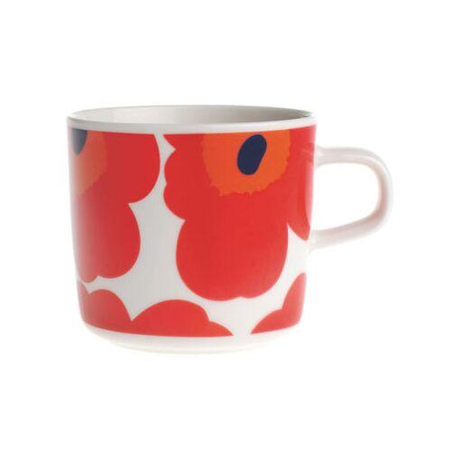 Marimekko Unikko Kaffeetasse - Marimekko - Weiß,Rot