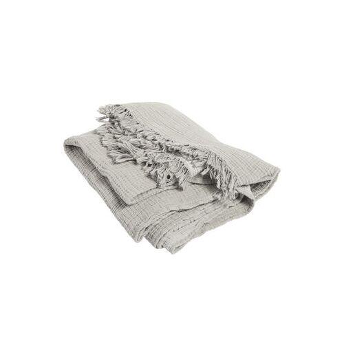 Hay Crinkle Plaid / Baumwolle mit Crinkle-Effekt - 210 x 150 cm - Hay - Grau