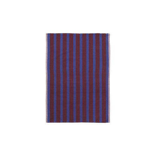 Ferm Living Hale Geschirrtuch / 50 x 70 cm - Ferm Living - Blau,Braun