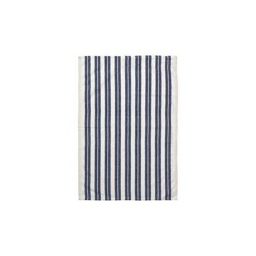 Ferm Living Hale Geschirrtuch / 50 x 70 cm - Ferm Living - Weiß,Blau