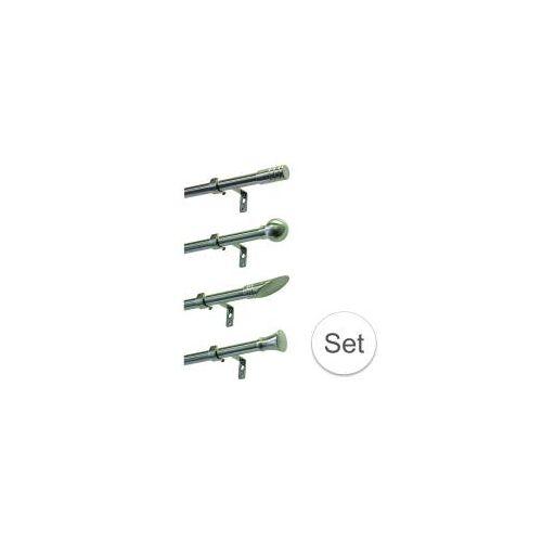 Gardinia Gardinenstangen-Set  Komplett-Garnitur für Ihre Vorhänge  Ausziehbar