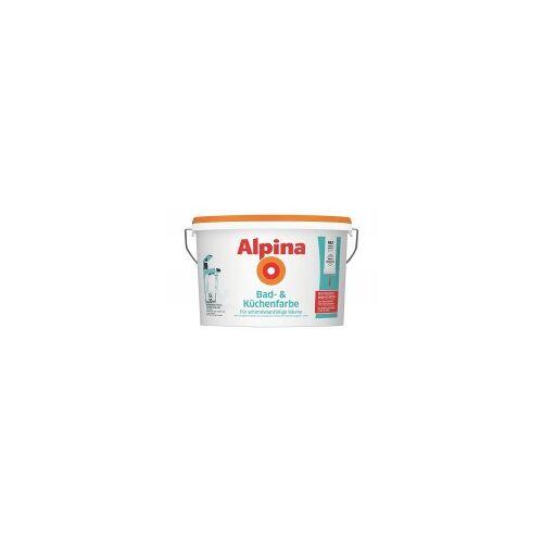 Alpina Farben Alpina Bad- und Küchenfarbe Weiß 1 L  Diese Wandfarbe hilft gegen Schimmel