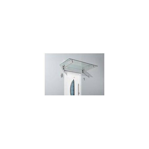 Gutta Werke GmbH Gutta Edelstahlvordach HD  Glas-Vordach in 140 oder 160 cm Breite  Haustürvordach