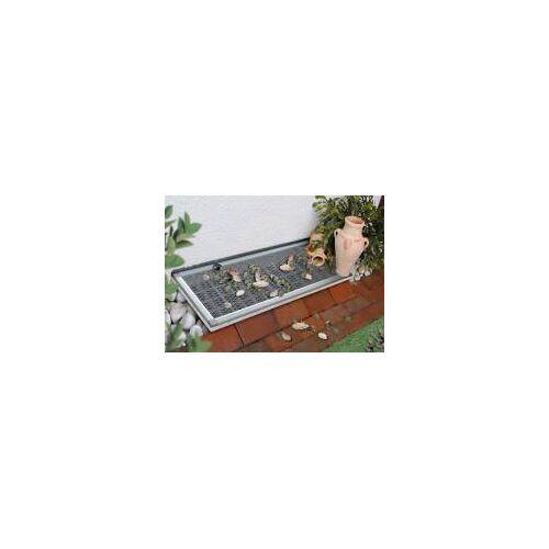 Schellenberg Lichtschachtabdeckung mit Alu-Rahmen Sauberer Lichtschacht - 55 x 110 cm