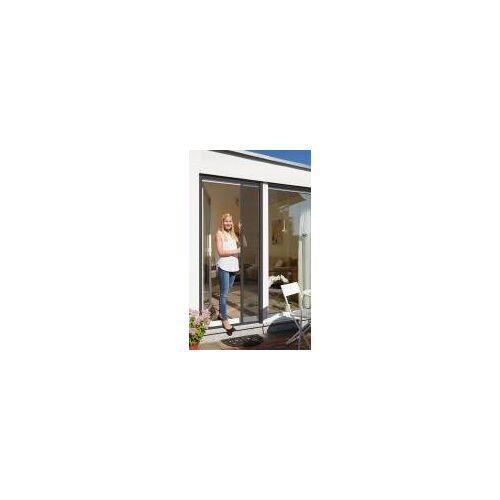 Schellenberg Fliegengitter-Rollo für Türen  160 x 225 cm mit Rahmen in Anthrazit oder Weiß