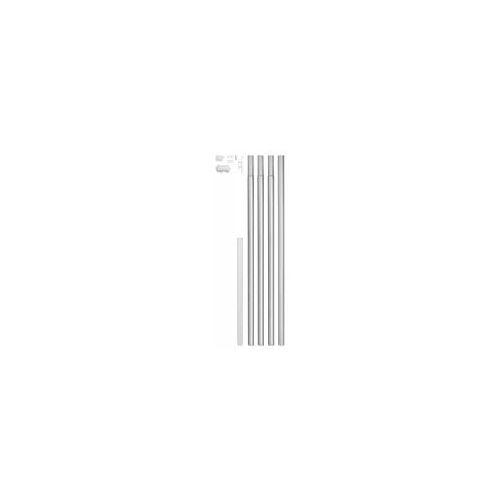 GAH Alberts GAH Fahnenmast Alu-Komplett-Set Ø 50 mm Höhe 620 cm  Mast zum Einbetonieren mit Bodenhülse