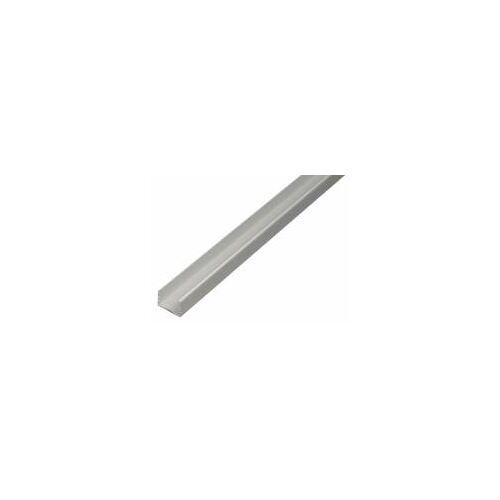 GAH Alberts GAH 2 m U-Profil zum Klemmen 10 x 12,9 x 10 x 1,5 mm Silber Alu, klemmbar