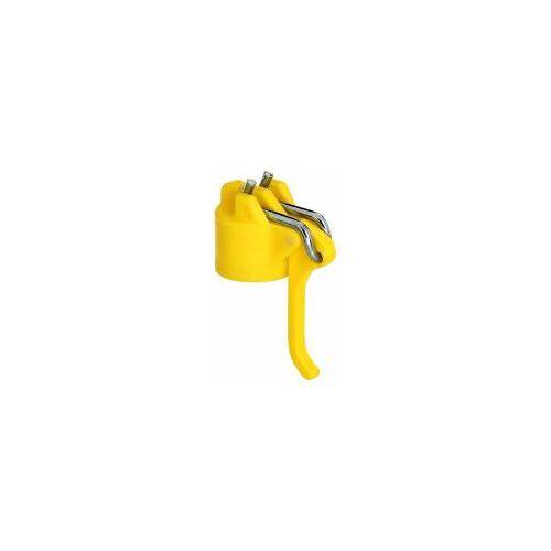 GAH Alberts GAH Leinenspannerkopf für Wäschepfosten, Kunststoff, Gelb, Ø 42mm  Wäscheleinen-Spanner
