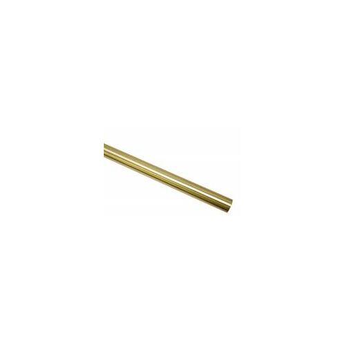 Gardinia Chicago 160 cm Gardinenstange Ø 20 mm, Metall-Stange, Messing-Matt