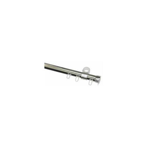 Gardinia 150 cm U-Laufschiene, Gardinenschiene, Innenlaufschiene, Gardinenleiste, 1-Lauf, Chrom