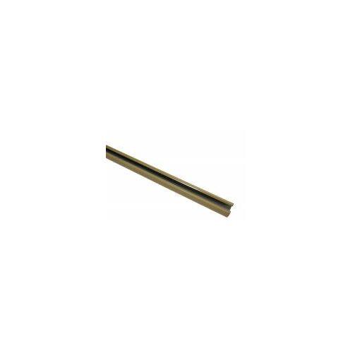 Gardinia 150 cm U-Laufschiene, Gardinenschiene, Innenlaufschiene, Gardinenleiste, 1-Lauf, Beige