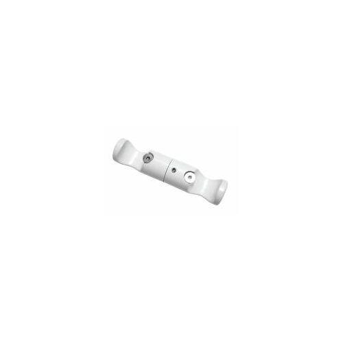 Gardinia Chicago Decken-Träger, offen, drehbar, für Ø 20 mm Gardinenstange, Weiß