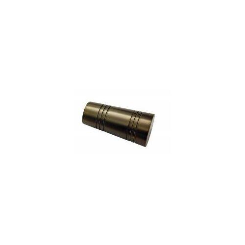 Gardinia Chicago 2 x Endknopf APOLLO für Ø 20 mm Gardinenstange, Bronze