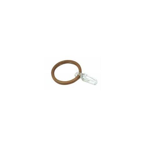 Gardinia Windsor 10 x Gardinenringe mit Faltenlegehaken für Ø 25 mm Gardinenstange, Bronze