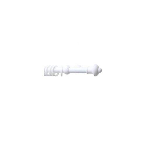 Gardinia Bifo 200 cm Gardinenstange Ø 28 mm, Kunststoff, Weiß