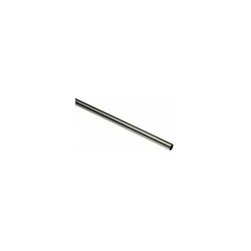 Gardinia New York 160 cm Gardinenstange Ø 12 mm Edelstahl-Optik  Metall-Gardinenstange