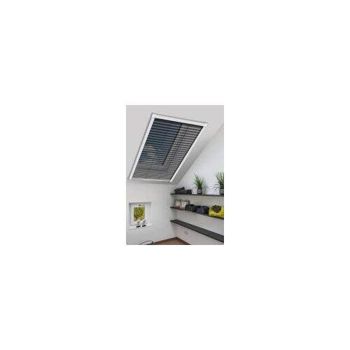 Schellenberg Insektenschutz-Plissee für Dachfenster  Zuschneidbar, 114 x 160 cm Weiß