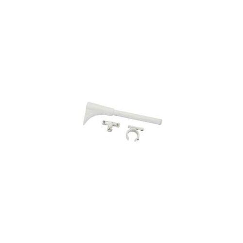 Gardinia Universal Wandträger Chicago, Wandhalter, für Gardinenstangen Ø 20 mm, weiß