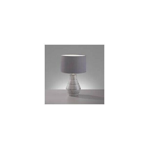 Fischer & Honsel Tischleuchte Binz, E14, max 40W, Keramik, Grau, Tischlampe, Ø 23 cm