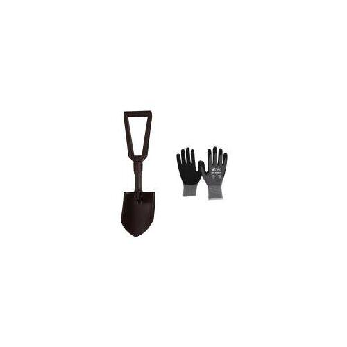 Fiskars Set - Klappspaten inklusive Handschuhe  Klappbare Schaufel, Spaten  Schwarz