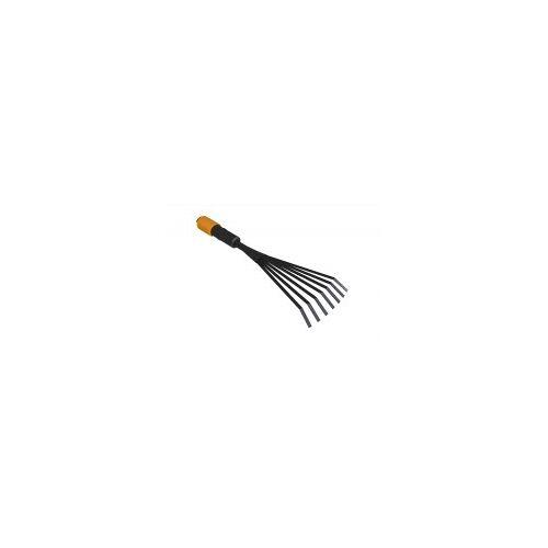 Fiskars QuikFit Kleinfächerbesen  Kleiner Fächerbesen aus Stahl für schmale Beete