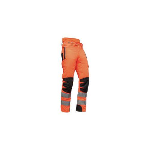 Schnittschutz Bundhose AX-MEN EN 20471 75 cm orange