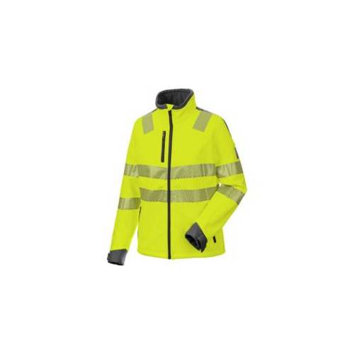 Warnschutz Softshelljacke Neon Damen gelb