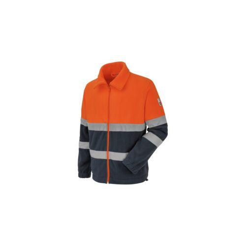 Warnschutz Fleecejacke EN 20471 orange navy