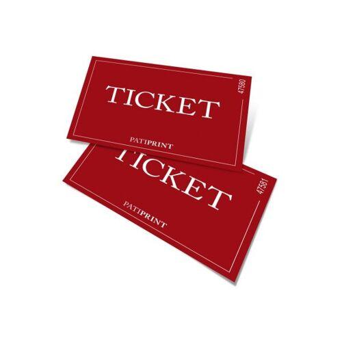 Pati-Versand Eintrittskarten A7 nummeriert 340g matt 25 Stück