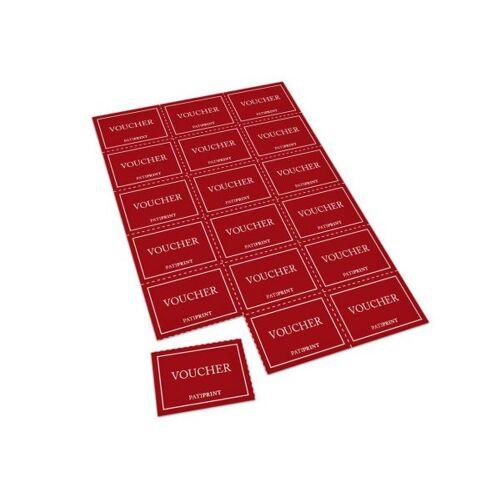 Pati-Versand Coupon-Bögen (perforiert) A4 18 Coupons 160g matt 10 Stück