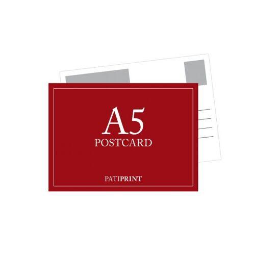 Pati-Versand Postkarte A5 Q-Format 340g matt 5 Stück